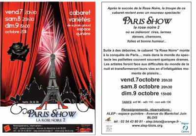 Spectacle de  La rose noire 2 Paris Show