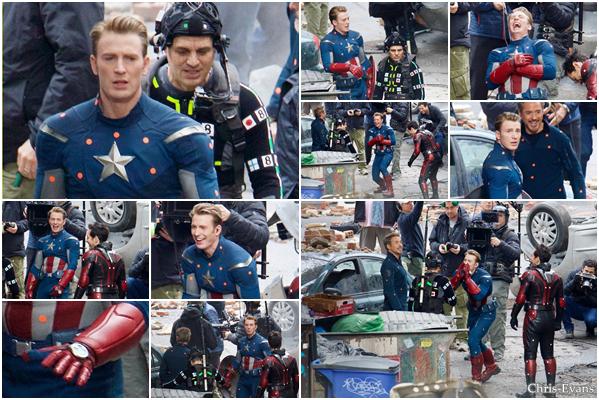 ● 10 Janvier 2018 : Chris Evans à était aperçut sur le tournage du film Avengers 4 qui ce dérouler à Atlanta. Ont peut voir que Chris porte la tenue de Captain America qu'on peut voir dans le premier film Avengers sortie en 2012.