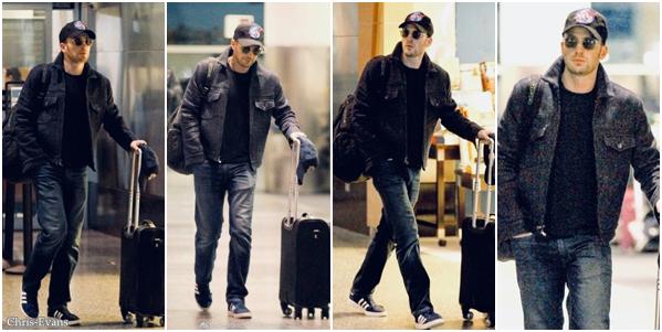 ● 26 Janvier 2018 : Chris Evans a était aperçut par les paparazzis alors qu'il arrivé a l'aéroport de Boston. J'aime bien comment il est habillé sur les photos, en tout cas il ne lâche pas sa casquette et désoler pour la qualité.