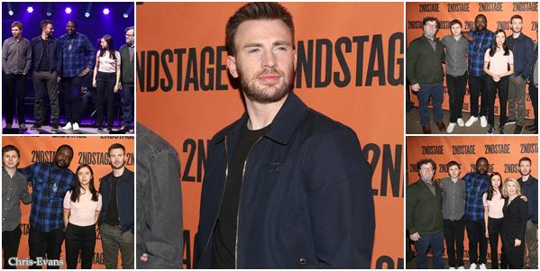 ● 5 Février 2018 : Chris Evans s'est rendu a un événement pour le pièce Lobby Hero qui était à New York. J'aime bien comment il est habillé sur les photos. C'est son premier rôle sur les planche de Broadway, bon courage a lui.