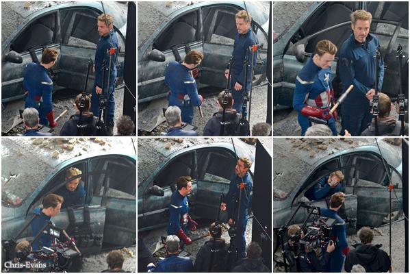 ● 11 Janvier 2018 : Chris et Robert Downey Jr. on été aperçut sur le tournage du 4eme Avengers à Atlanta. Je suis vraiment presser de voir ce dernier film Avengers avec mes deux acteur préférer. Enfin il y a Infinity War avant !