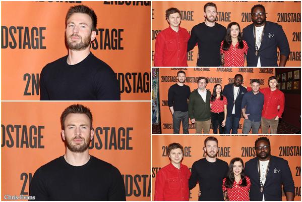 ● 16 Février 2018 : Chris s'est rendu a un Meet & Greet pour le pièce Lobby Hero qui était à New York. J'aime bien comment il est habillé sur les photos. C'est son premier rôle sur les planche de Broadway, bon courage a lui.