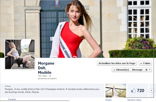 Comme promis : ma page en tant que jeune modèle photo ! (créée depuis le o2.o6) ♥