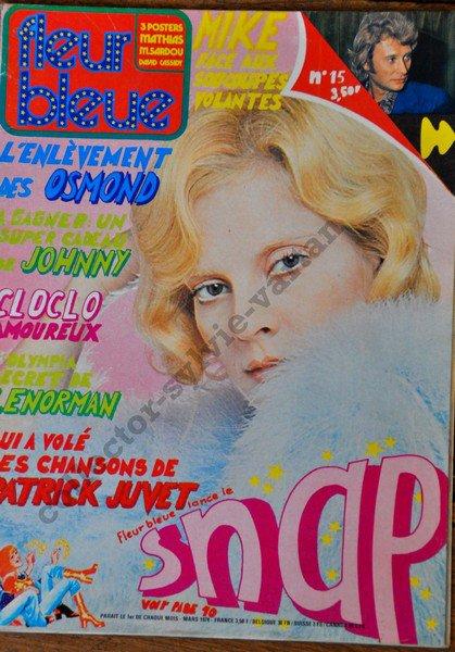 sylvie vartan couverture de fleur bleu mars 1974