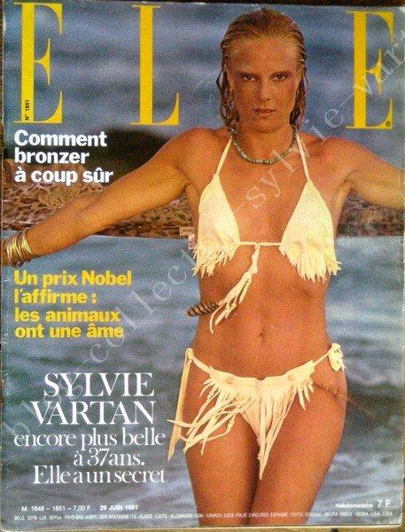 magazine elle couverture sylvie vartan du 29 juin 1981