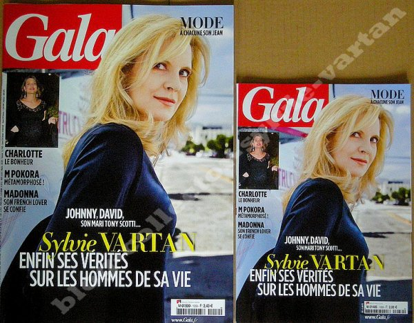 magazine ,gala couverture sylvie vartan , 25septembre 2013 numero 1059 en 2 formats