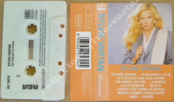 "k7 audio ""tendrement"" compilation sylvie vartan 1984"