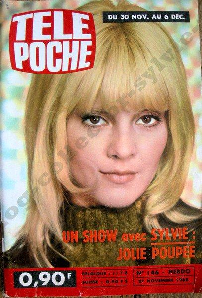 magazine télé poche n146 du 27 nov 1968 avec Sylvie Vartan en couverture