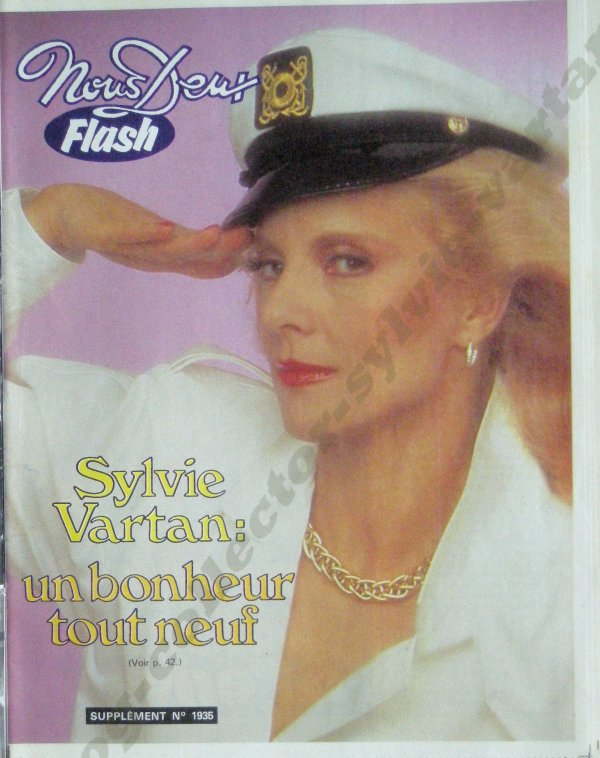 suplément du magazine nous deux numéro 1935 de 1984 petit livret avec Sylvie vartan