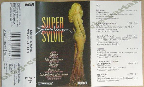 k7 audio allemande compil Sylvie Vartan 1984