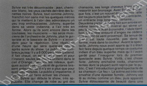 magazine salut numéro 127  du 6 au 19 aout 1980 avec sylvie et johnny en couverture