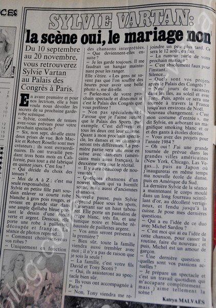 confidences magazine sylvie et tony  numéro1409 du 19 au 25 aout 1983