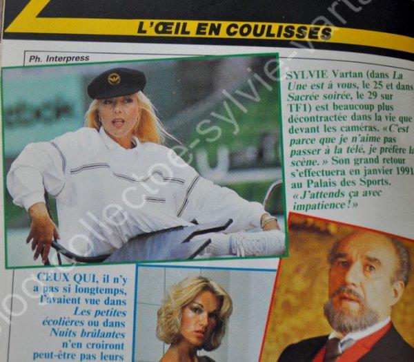 magazine télé  Z  sylvie vartan programme du 25nov au 1er déc numéro M1910 année 1989