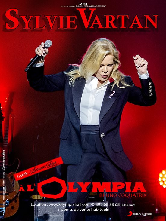 A ne pas rater Sylvie Vartan a l'Olympa  le 11 & 12 avril 2015