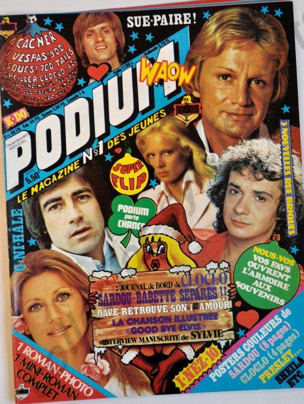 il y a 39 ans notre Sylvie etait dans le podium mensuel du mois de décembre 1977 numèro 70