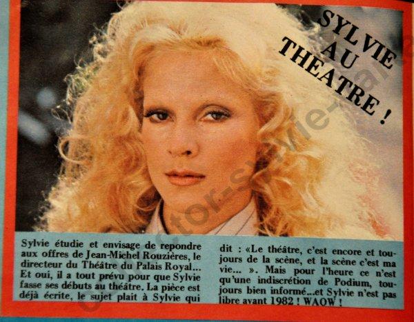 nouvelle rubrique les indiscrétions sur Sylvie dans la presse octobre 80 podium numéro 104