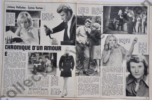magazine nous deux , le supplément flash avec Sylvie et Johnny numèro :1398 date 1974
