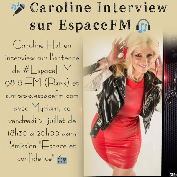 Caroline Hot en interview EXCLUSIVE sur l'antenne de #EspaceFM 98.8 FM