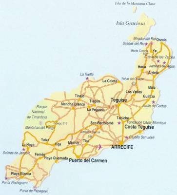 Ile Lanzarote Carte.L Ile De Lanzarote La Puta Madre De Lanzarote