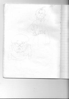 2 petits dessins de deux persos