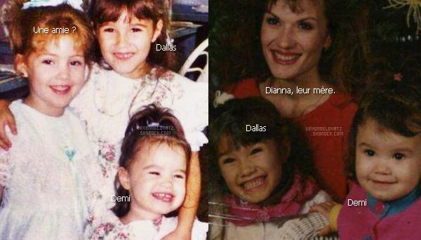 • Voici deux anciennes photos de Demi et Dallas, sa grande soeur, petites.  •