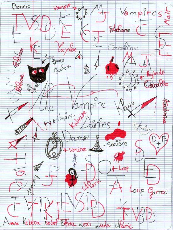 Dessin tvd ta source sur la s rie the vampire diaries - Dessin vampire diaries ...