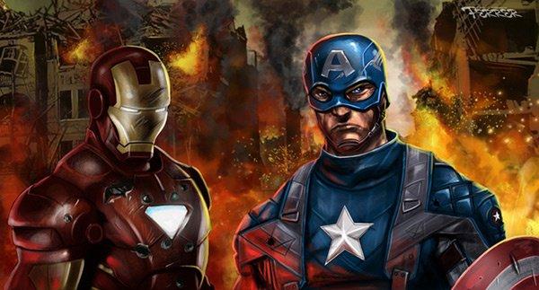 les deux super héros que j aime apres Green Lantern, Iron man et Captain America!!