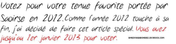 - Tenue favorite 2012 sondage -