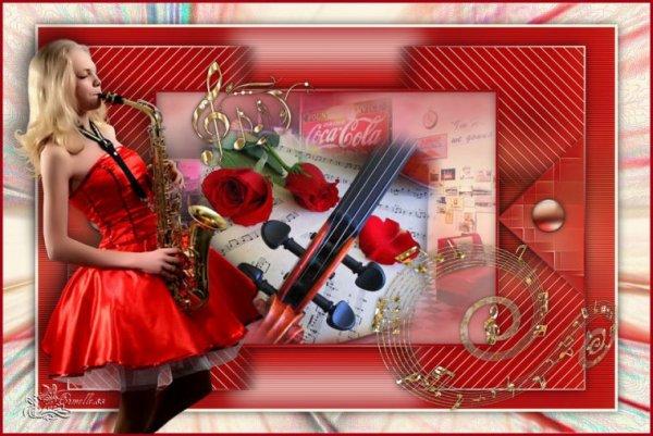 ♥♫♥♫  Magnifique créa de mon amie Armelle♥♫  Bonne fête de la Musique A tous !!  ♥♫