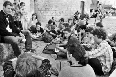 Thierry Neuvic et les collégiens (12/09/11)