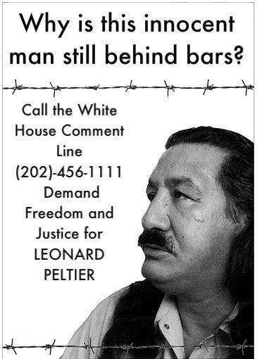 liberté pour le prisonnier LEONARD PELTIER
