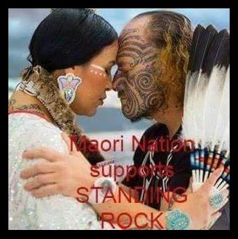 les mahori viennent soutenir standing rock
