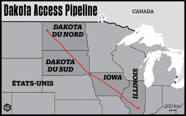 Environnement:  bataille contre le pipeline Dakota Access reprend