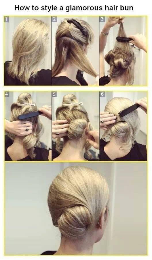 Tuto coiffure  Un chignon glamour !