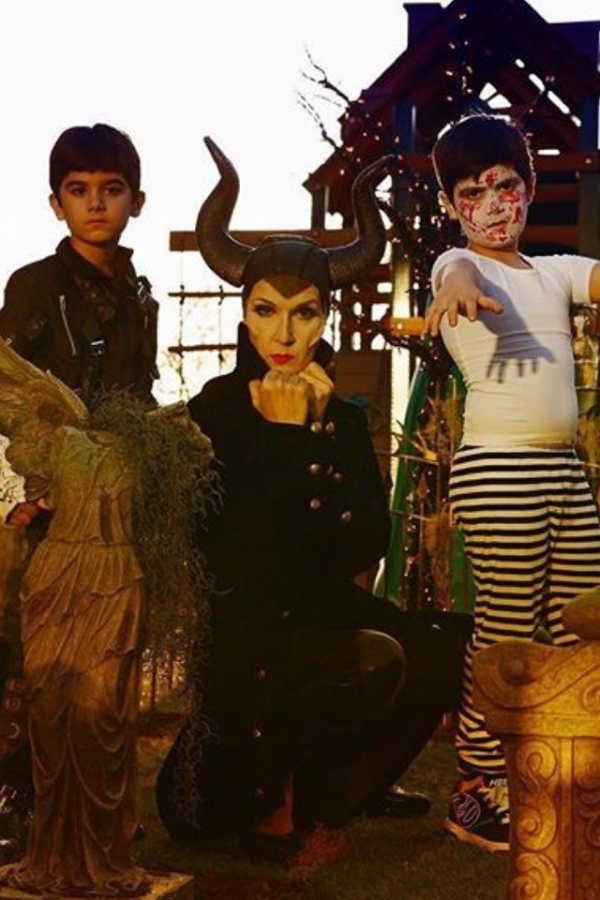 super costume de céline et ses jumeaux pour halloween !!!!!