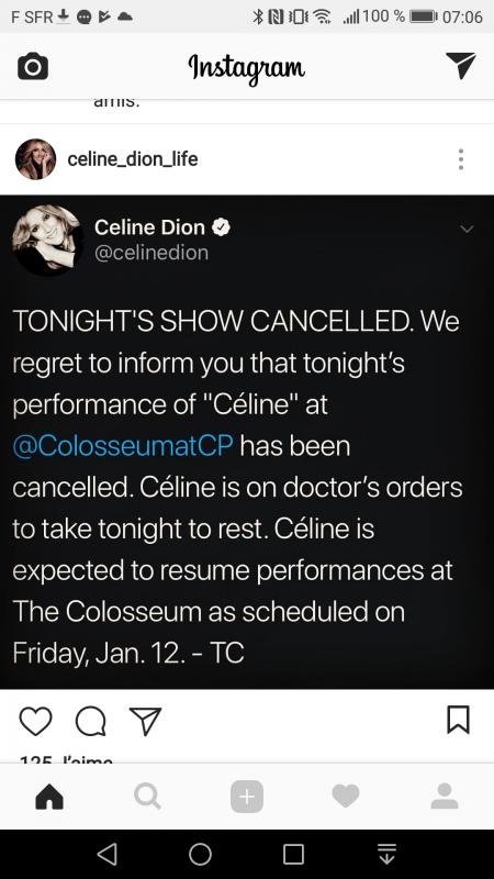 Spectacle annulé ce soir