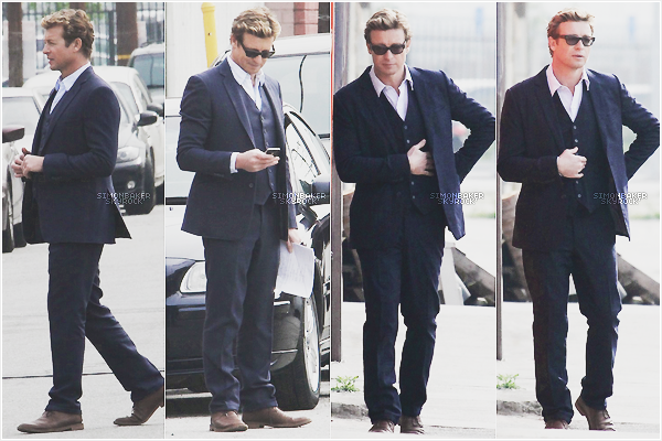 20.03.13      Simon a été aperçu sur le set de « The Mentalist » à Los Angeles.