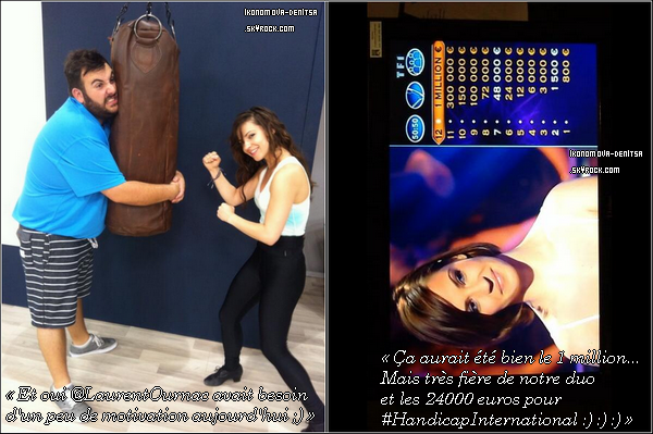 Photos Twitter de Denitsa dont une où nous pouvons la voir avec son nouveau partenaire pour DALS 4 : Laurent Ournac.