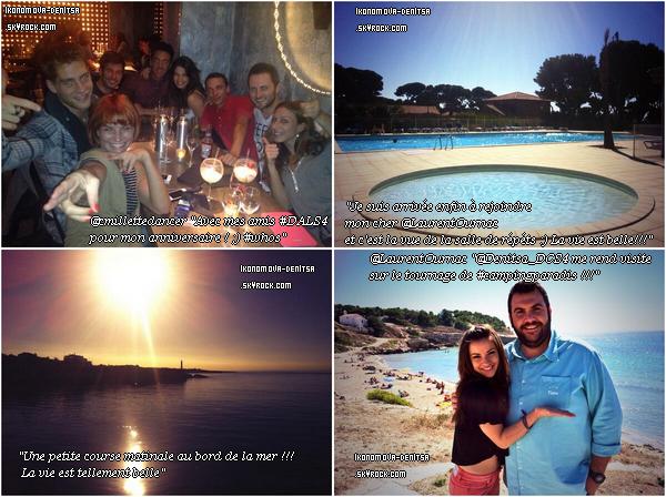 Denitsa a récemment posté quelques photos sur Twitter ainsi que Christian Millette et Laurent Ournac, son partenaire de danse dans l'émission.