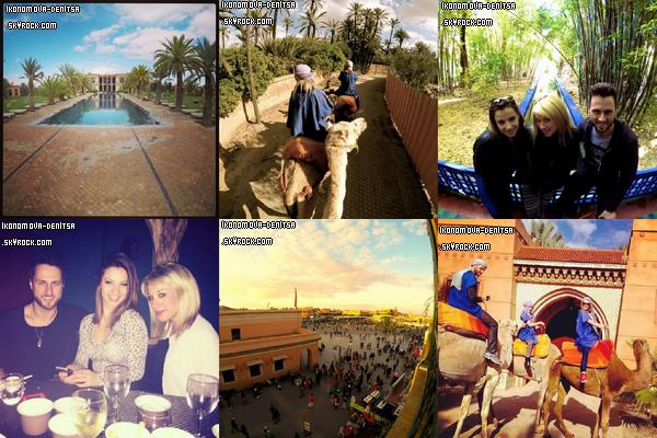 Quelques clichés des vacances de Denitsa à Marrakech avec ses acolytes Jade Gerropp et Christian Millette.