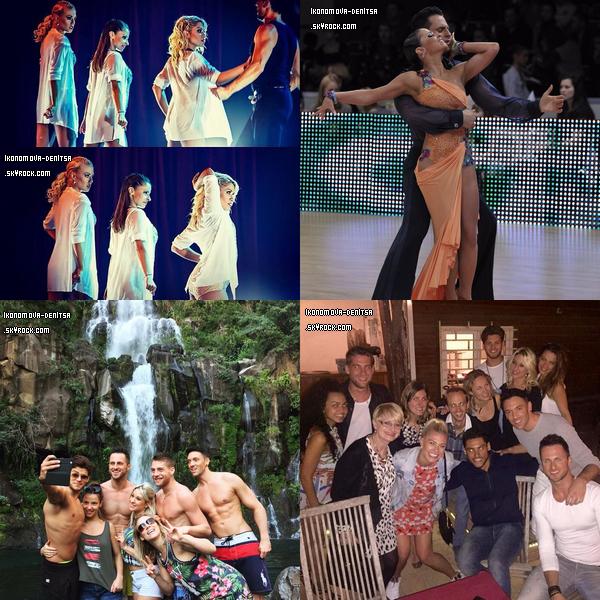 """18.05.16. Il y a quelques jours, Chris Marques a mis en ligne sur sa chaîne, la danse sur """"Carmen"""" en trio avec Loic, Denitsa et Silvia lors d'une des dates de la tournée mais aussi une danse de groupe."""