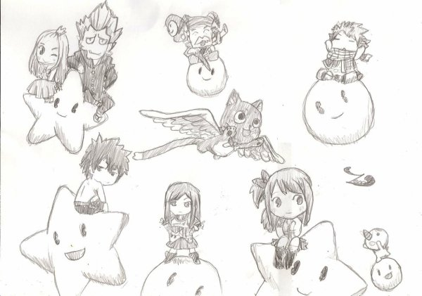 Fairy tail en dessins :-)