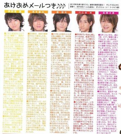 Myojo de Février 2011 Ce que pense Yabu de son année 2010 [...]