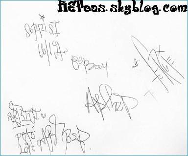 Black Eyed Peas' Autographs
