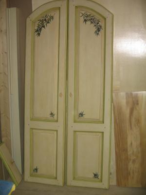 Cr ation de d cors sur bois porte de placard n 2 l 39 atelier de sylvie for Porte de placard bois