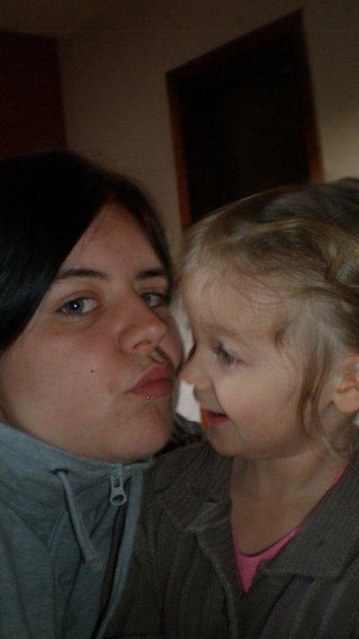 Petit moment avec ma filleulle