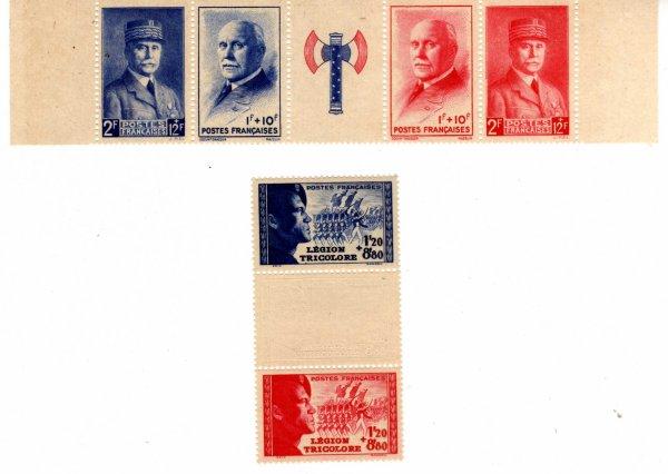 timbres pétain & LVF