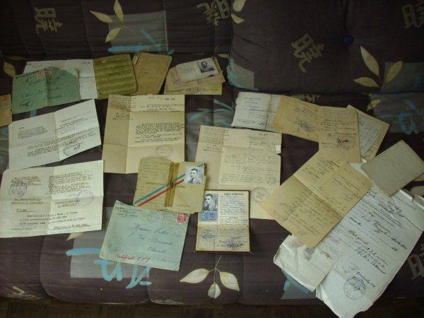 lot de document d'un ancien F.F.I