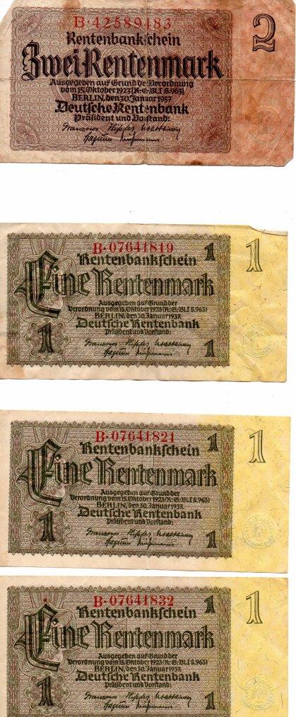 un petit lot de billet allemand