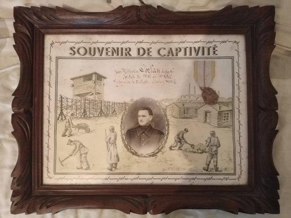 Cadre souvenir de captivité